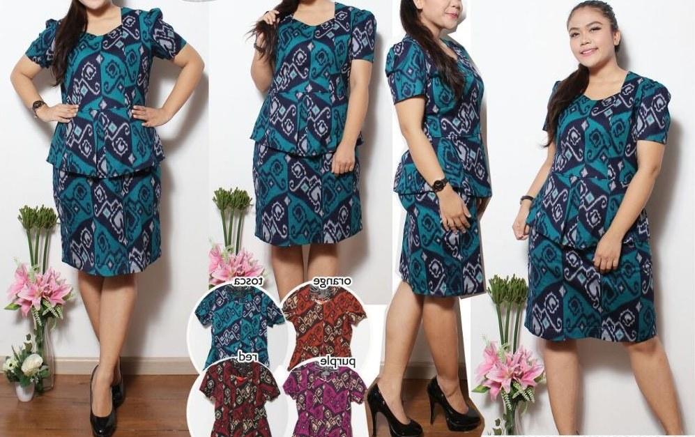Bentuk Model Baju Lebaran Untuk orang Gemuk Zwd9 Model Baju Batik Untuk Wanita Gemuk Agar Terlihat Langsing