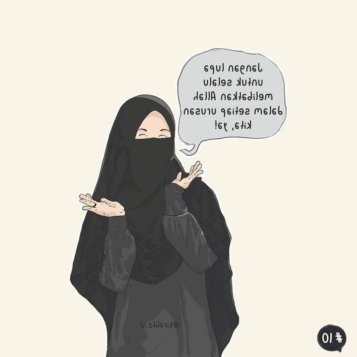 Bentuk Muslimah Bercadar Hitam 3id6 2019 Gambar Kartun Muslimah Terbaru Kualitas Hd