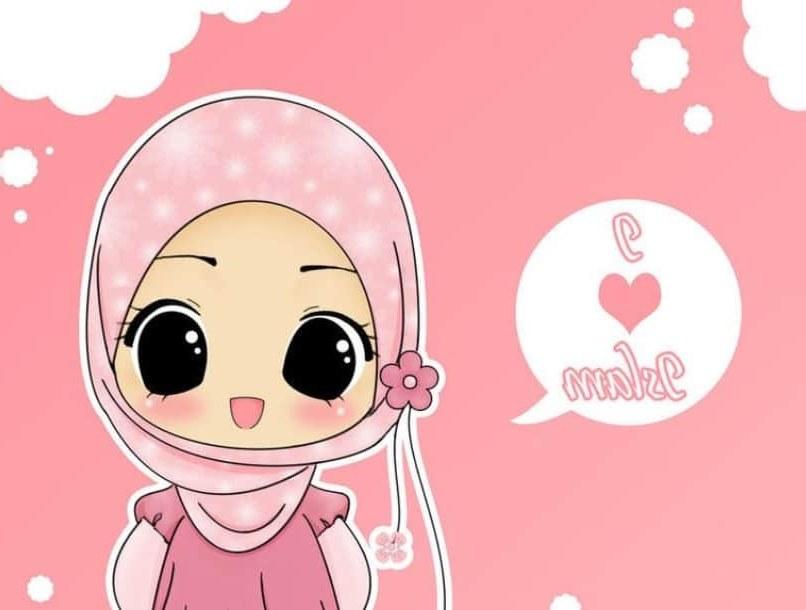 Bentuk Muslimah Bercadar Hitam 3ldq Hijab Animasi Hitam Putih Gambar islami