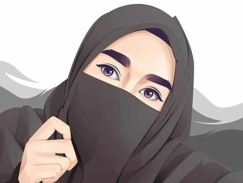 Bentuk Muslimah Bercadar Hitam Bqdd 30 Gambar Kartun Muslimah Bercadar Syari Cantik Lucu