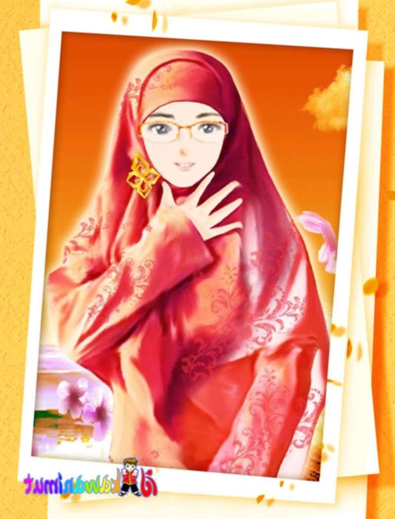 Bentuk Muslimah Kartun Cantik Berhijab Dwdk Kartun Muslimah Kacamata