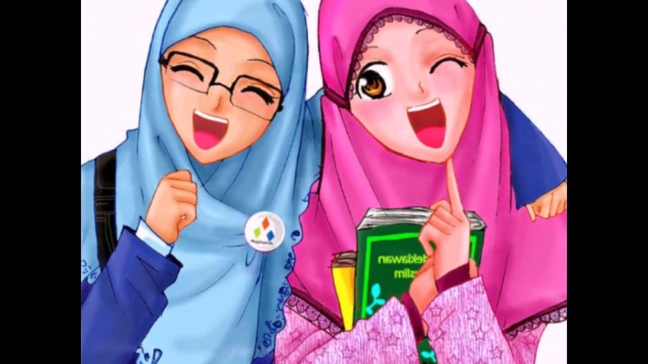 Bentuk Muslimah Kartun Cantik Berhijab Nkde Wajib Nonton Vidio Wanita Cantik Berhijab Kartun