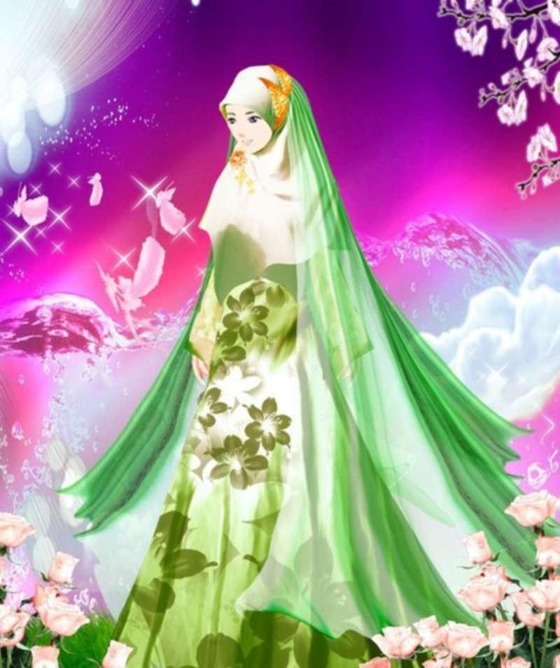 Bentuk Muslimah Kartun Cantik Berhijab Tldn 17 Gambar Kartun Muslimah Cantik Berhijab Anak Cemerlang