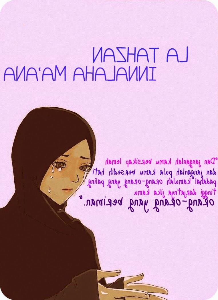 Bentuk Muslimah Kartun Menangis J7do Gambar Kartun Muslimah Hujan