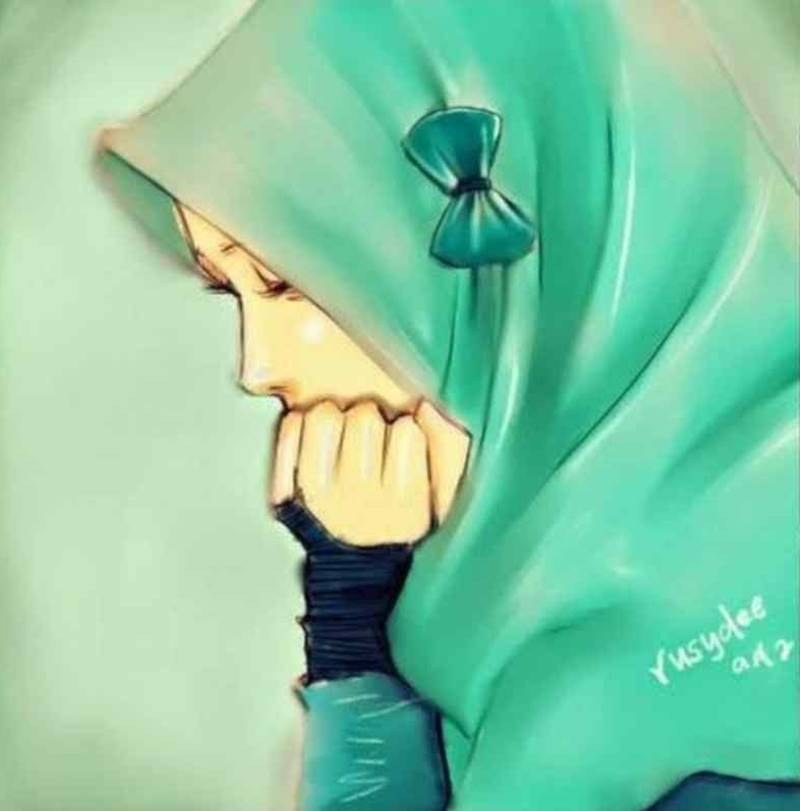 Bentuk Muslimah Kartun Menangis Y7du 11 Kartun Muslimah Sedih Anak Cemerlang
