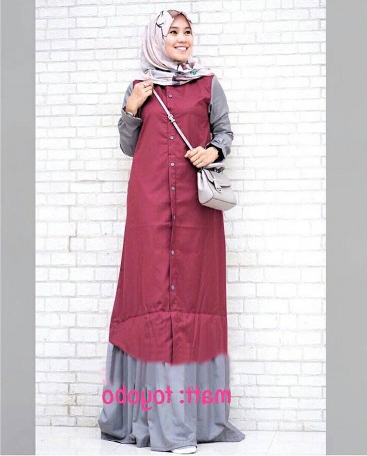 Bentuk Trend Warna Baju Lebaran 2018 8ydm Trend Baju Lebaran Terbaru 2018 Davina Marun Model Baju
