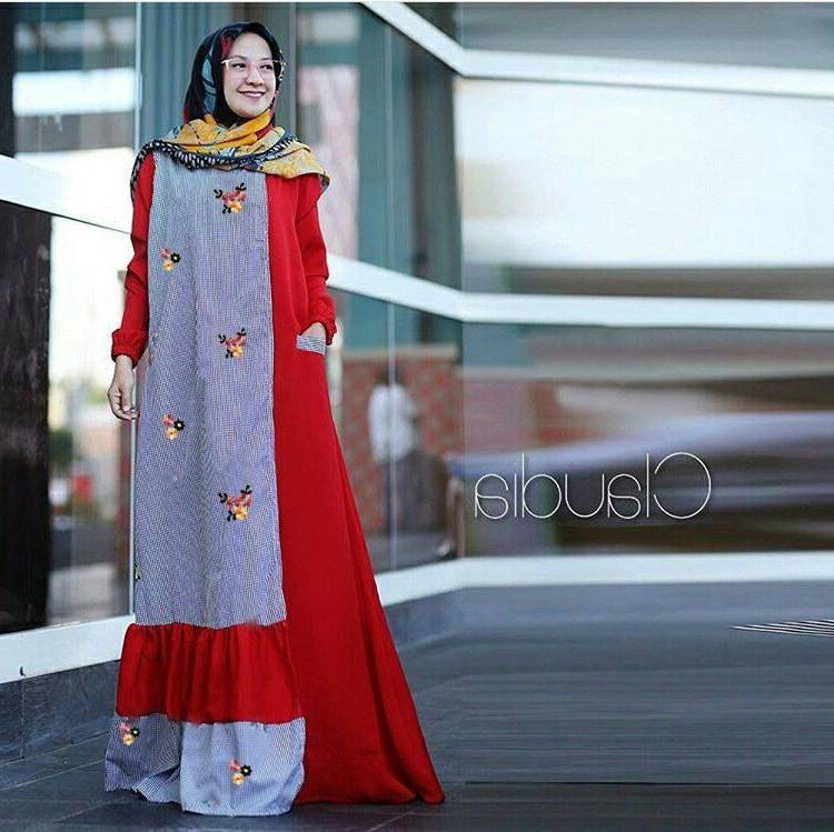 Bentuk Trend Warna Baju Lebaran 2018 Q5df Trend Baju Lebaran 2018 Claudia Merah Model Baju Gamis