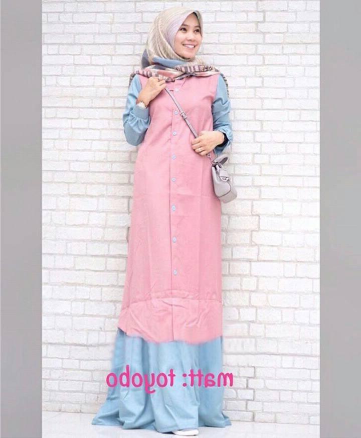 Bentuk Trend Warna Baju Lebaran 2018 Thdr Trend Baju Lebaran Terbaru 2018 Davina Pink Biru Model