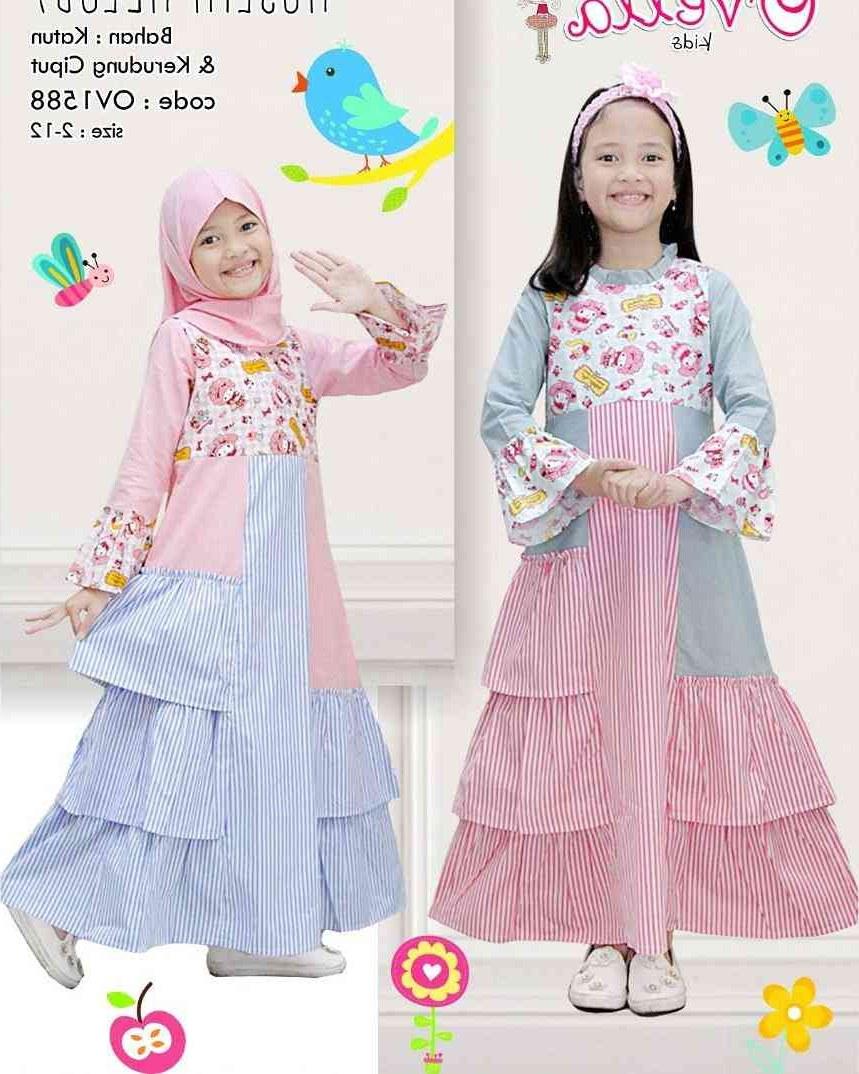 Design Baju Lebaran 2018 Anak Rldj Gamis Anak Lebaran Terbaru 2018 Melody Model Baju Gamis