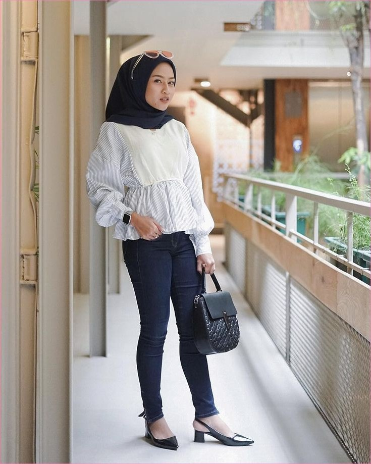 Design Baju Lebaran Ala Selebgram Ipdd Outfit Baju top Blouse Untuk Hijabers Ala Selebgram 2018