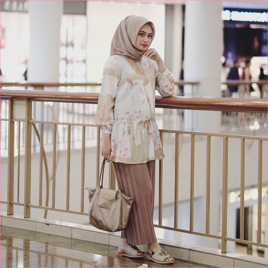 Design Baju Lebaran Ala Selebgram Rldj Outfit Baju Hijab Casual Untuk Perempuan Gemuk Ala