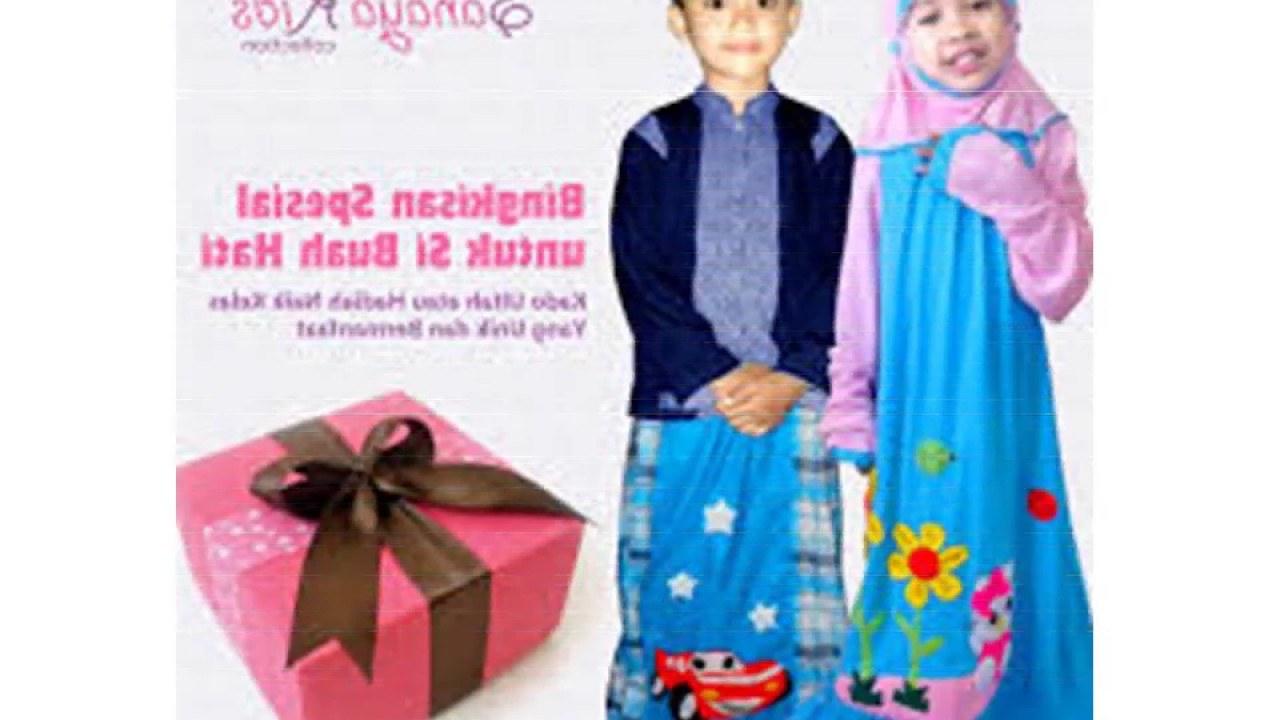 Design Baju Lebaran Anak Perempuan 2018 3id6 Model Baju Muslim Anak Laki Laki Dan Perempuan Terbaru