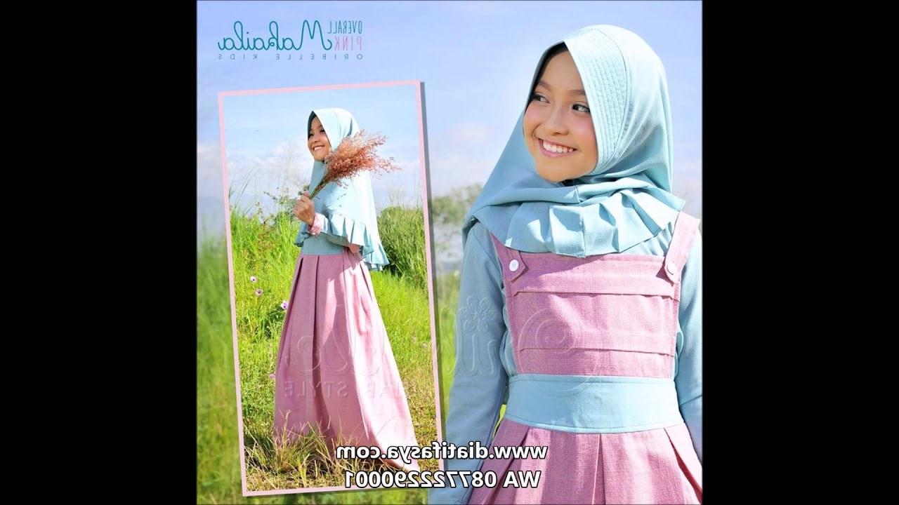 Design Baju Lebaran Anak Perempuan 2018 Qwdq Busana Muslim Anak Perempuan Terbaru 2018
