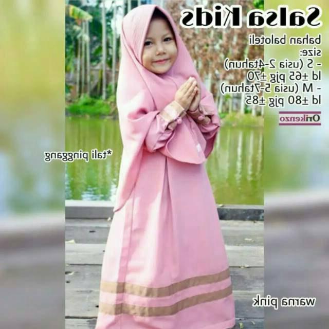 Design Baju Lebaran Anak Perempuan Umur 8 Tahun 87dx Baju Muslim Gamis Anak Perempuan Pakaian Syari Set