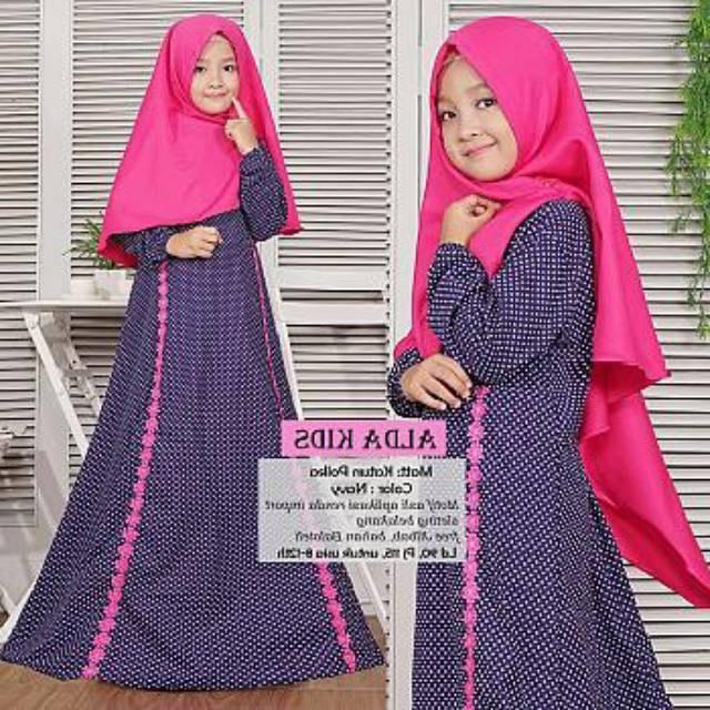 Design Baju Lebaran Anak Perempuan Umur 8 Tahun 9ddf Kid Alda Onde Fashion Muslim Gamis Anak Umur 8 9 10 11 12