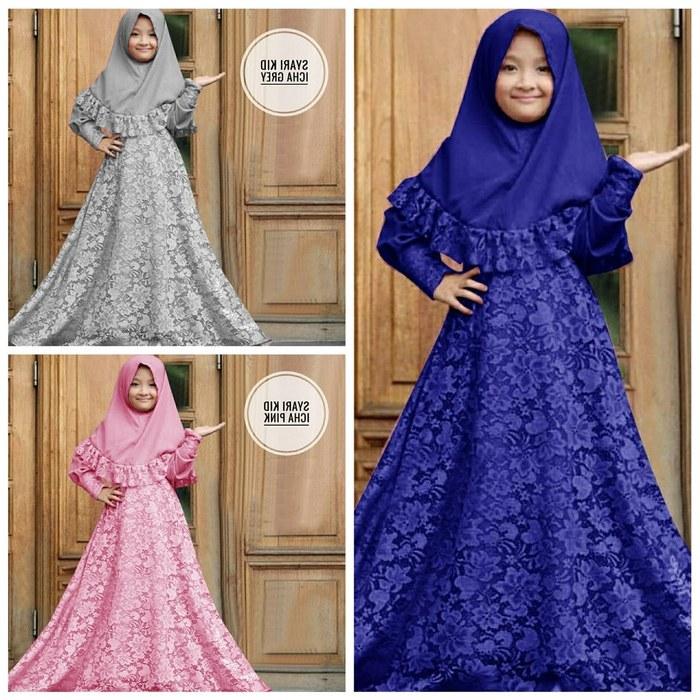 Design Baju Lebaran Anak Perempuan Umur 8 Tahun E6d5 Jual A Kid Syari Icha Gamis Brokat Anak Perempuan Umur 7 8