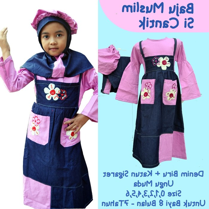 Design Baju Lebaran Anak Umur 11 Tahun Etdg Jual Baju Muslim Anak Wanita Umur 4 8 Tahun