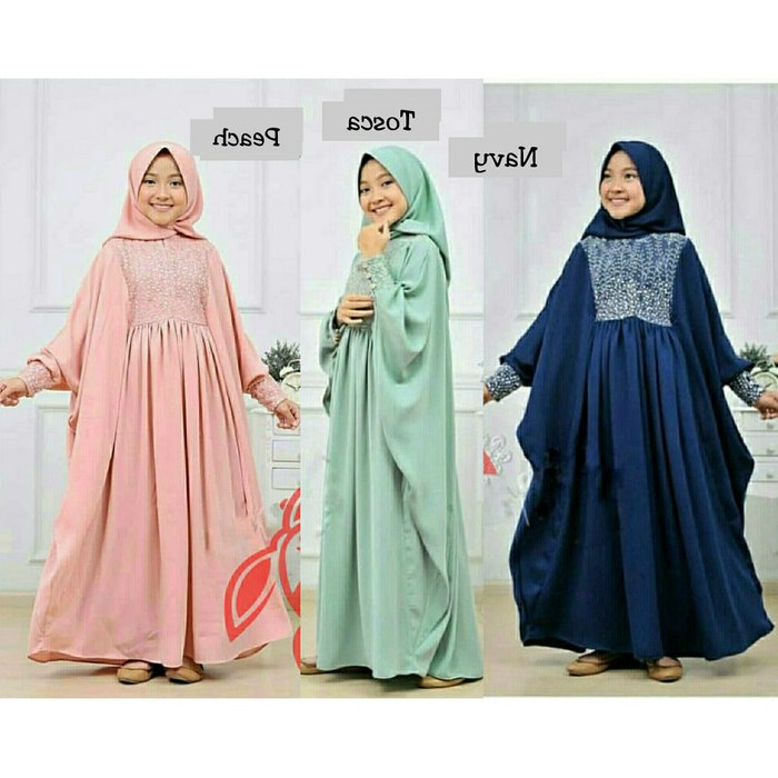 Design Baju Lebaran Anak Umur 11 Tahun Mndw Jual Baju Muslim Anak Cewe Hijab Syari butterfly Kids Usia