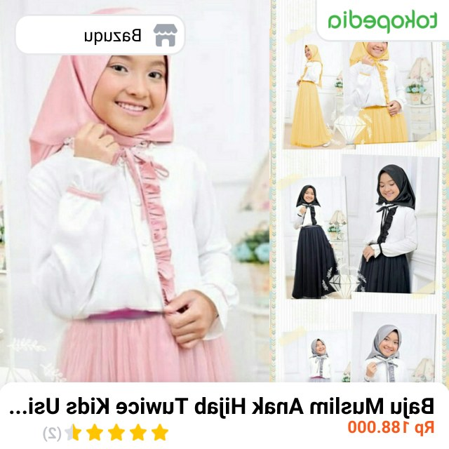 Design Baju Lebaran Anak Umur 11 Tahun Rldj Jual Baju Muslim Anak Hijab Tuwice Kids Usia 8 9 10 11 12
