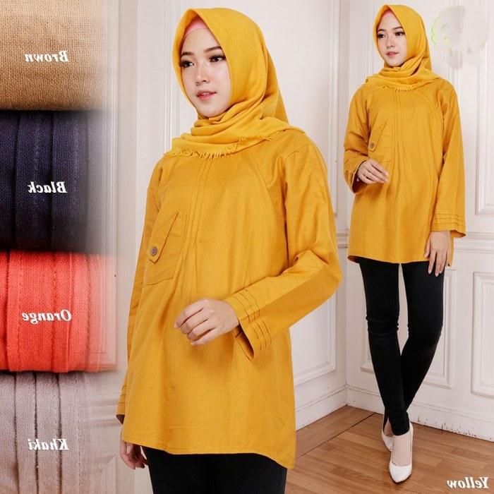 Design Baju Lebaran Celana Dan atasan Nkde 17 Model Baju atasan Gamis Lebaran Modis Dan Cantik