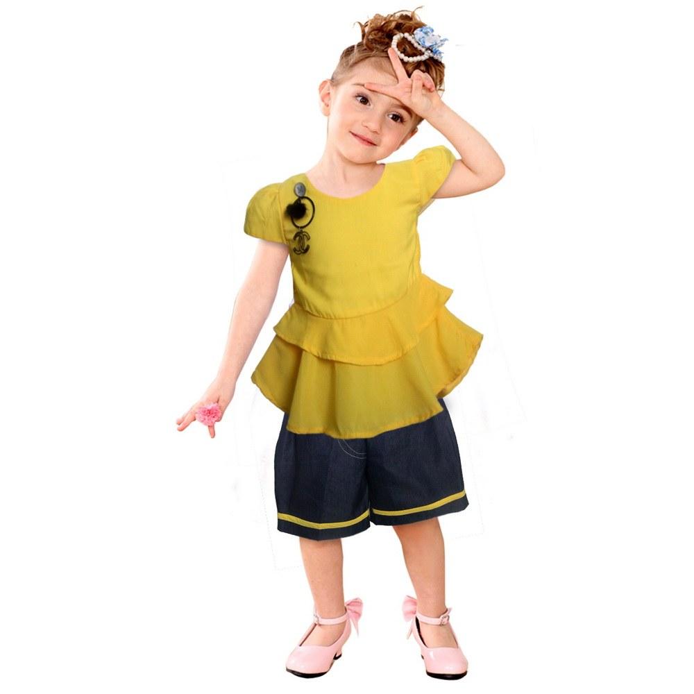 Design Baju Lebaran Celana Dan atasan Thdr Setelan atasan Dan Celana Anak 2762hrg Rp 66 500 Pcs 1