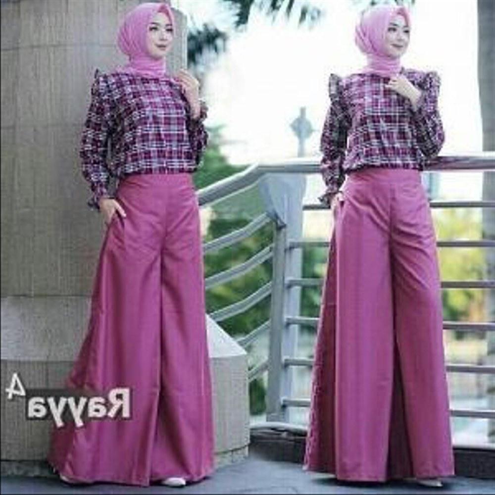 Design Baju Lebaran Celana Dan atasan Tqd3 Jual Hijab Modern Rayya Set 2in1 atasan Blouse Dan Celana