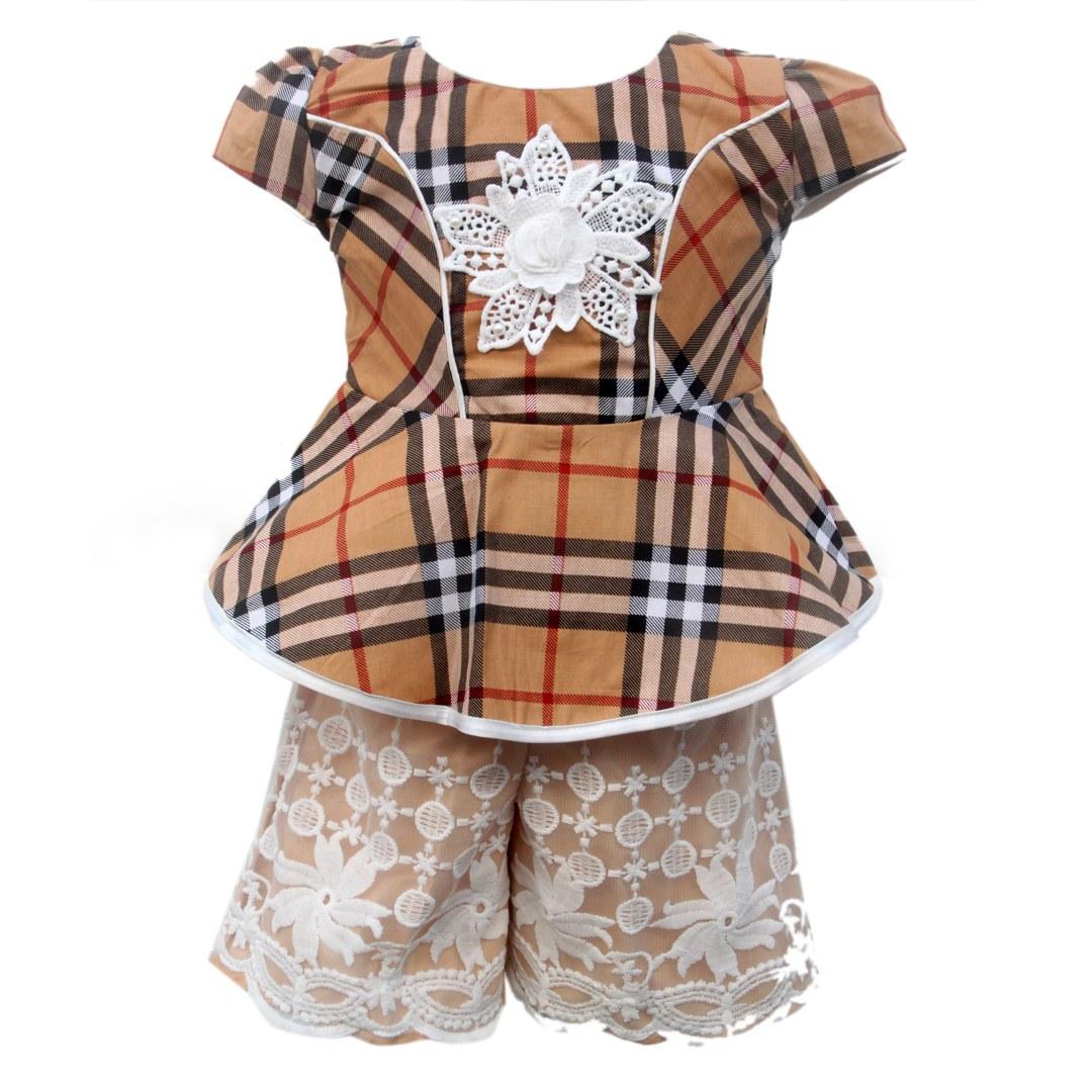 Design Baju Lebaran Celana Dan atasan Whdr Setelan atasan Dan Celana Anak 2793hrg Rp 78 000 Pcs 1