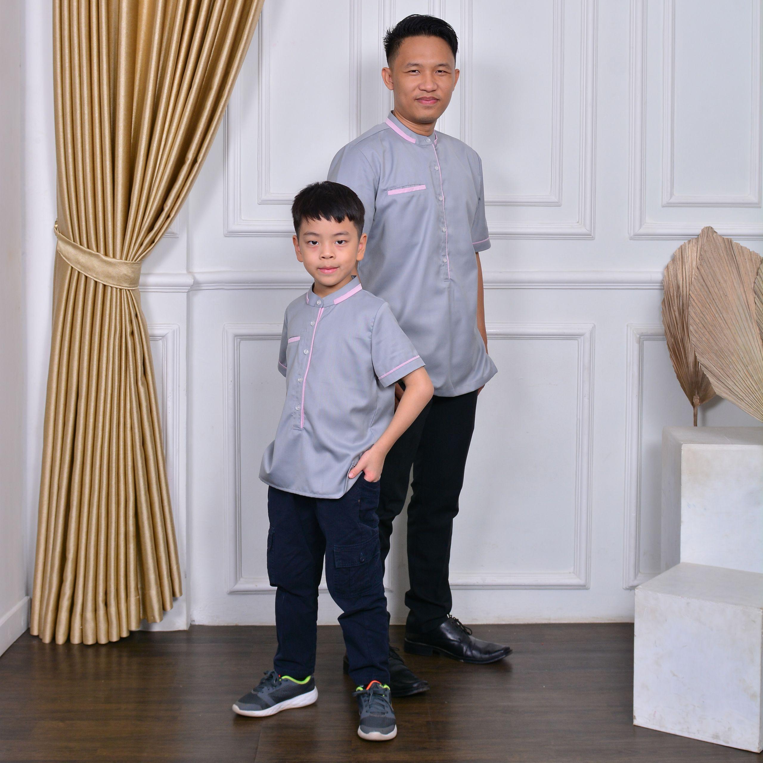 Design Baju Lebaran Dewasa Ftd8 Sarimbit Baju Lebaran Anak Dewasa Iac Baju Koko Zahra Ayah