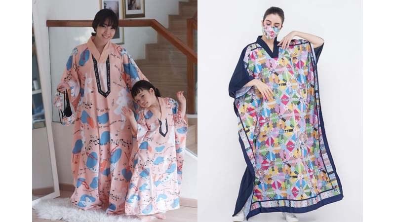 Design Baju Lebaran Hits Thdr Tren Baju Lebaran 2020 Melly Goeslaw Buat Kaftan Matching