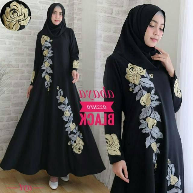 Design Baju Lebaran orang Tua H9d9 30 Model Gamis Muslim Untuk orang Tua Fashion Modern