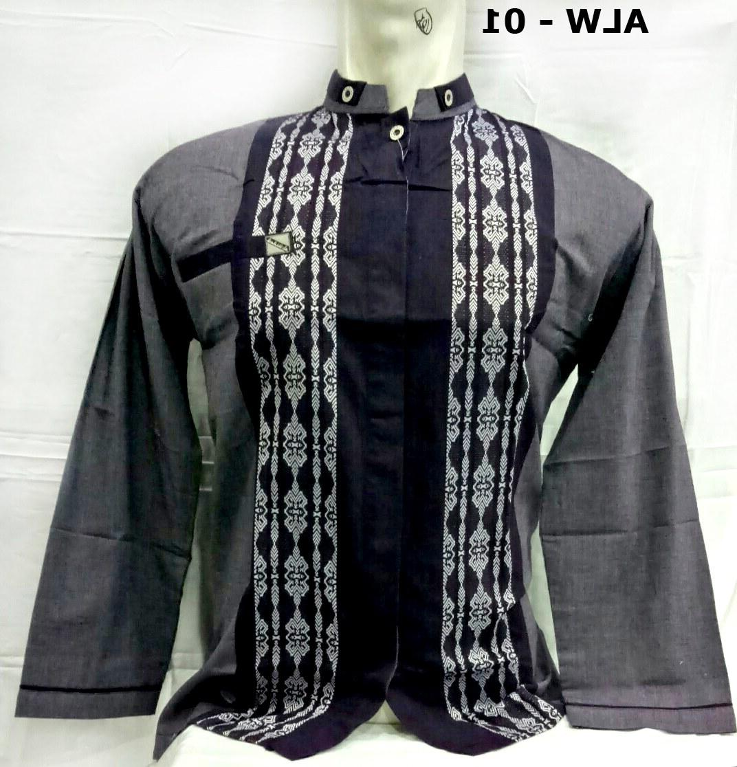 Design Baju Lebaran Pria 2018 Mndw Gambar Baju Muslim Pria Baju Koko Lengan Panjang Model