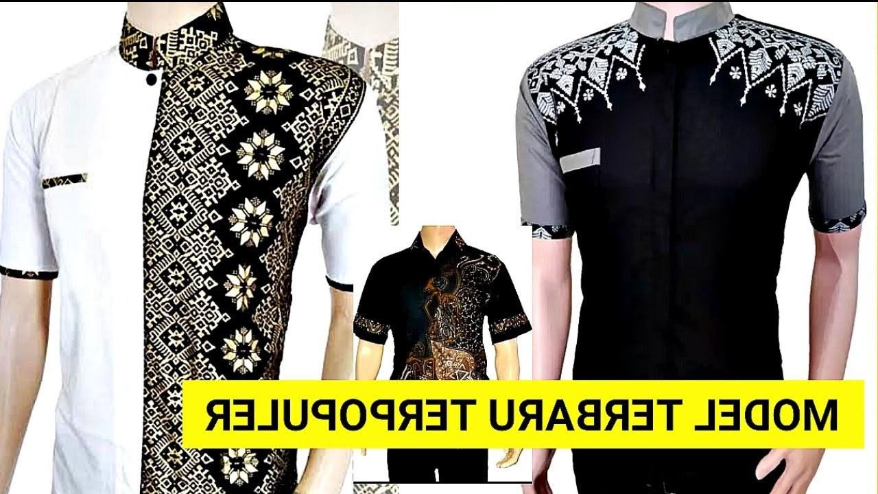 Design Baju Lebaran Pria Terbaru 2019 S1du 40 Model Baju Koko Pria Kombinasi Batik Lengan Pendek