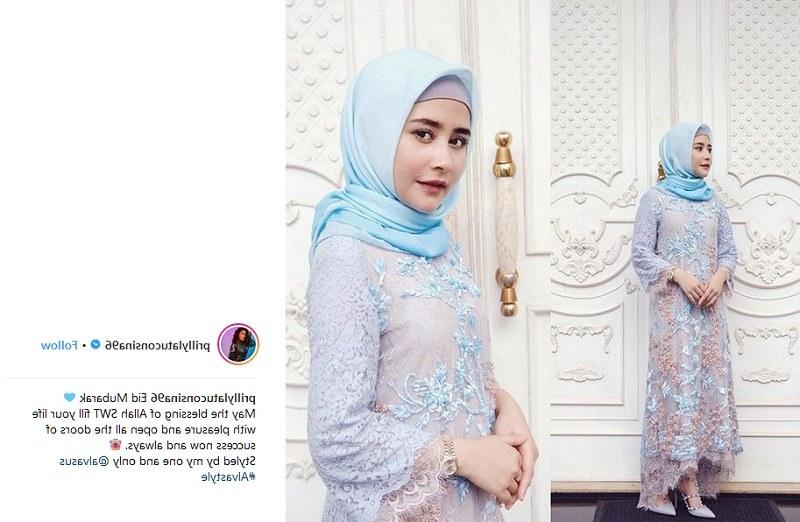 Design Baju Lebaran Prilly Latuconsina Xtd6 Sibuk Prilly Latuconsina Sempatkan Rancang Seragam