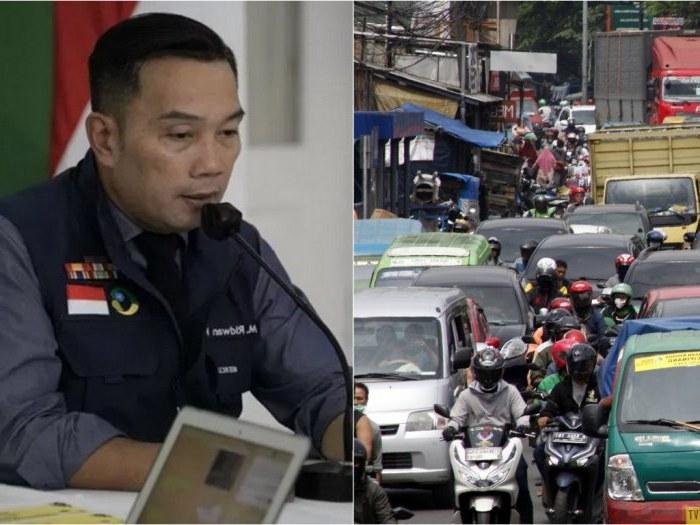 Design Baju Lebaran Ridwan Kamil Thdr Tingkat Kemacetan Naik Ridwan Kamil Warga Tak Bisa Tahan
