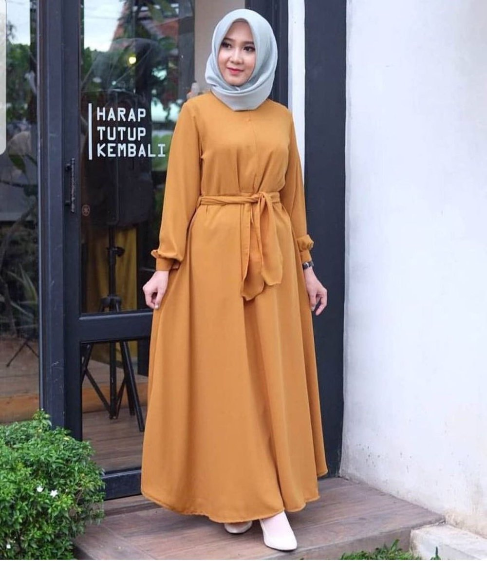 Design Baju Lebaran Simpel Dddy Jual Baju Syar I Hijab Panjang atasan Simple Blouse