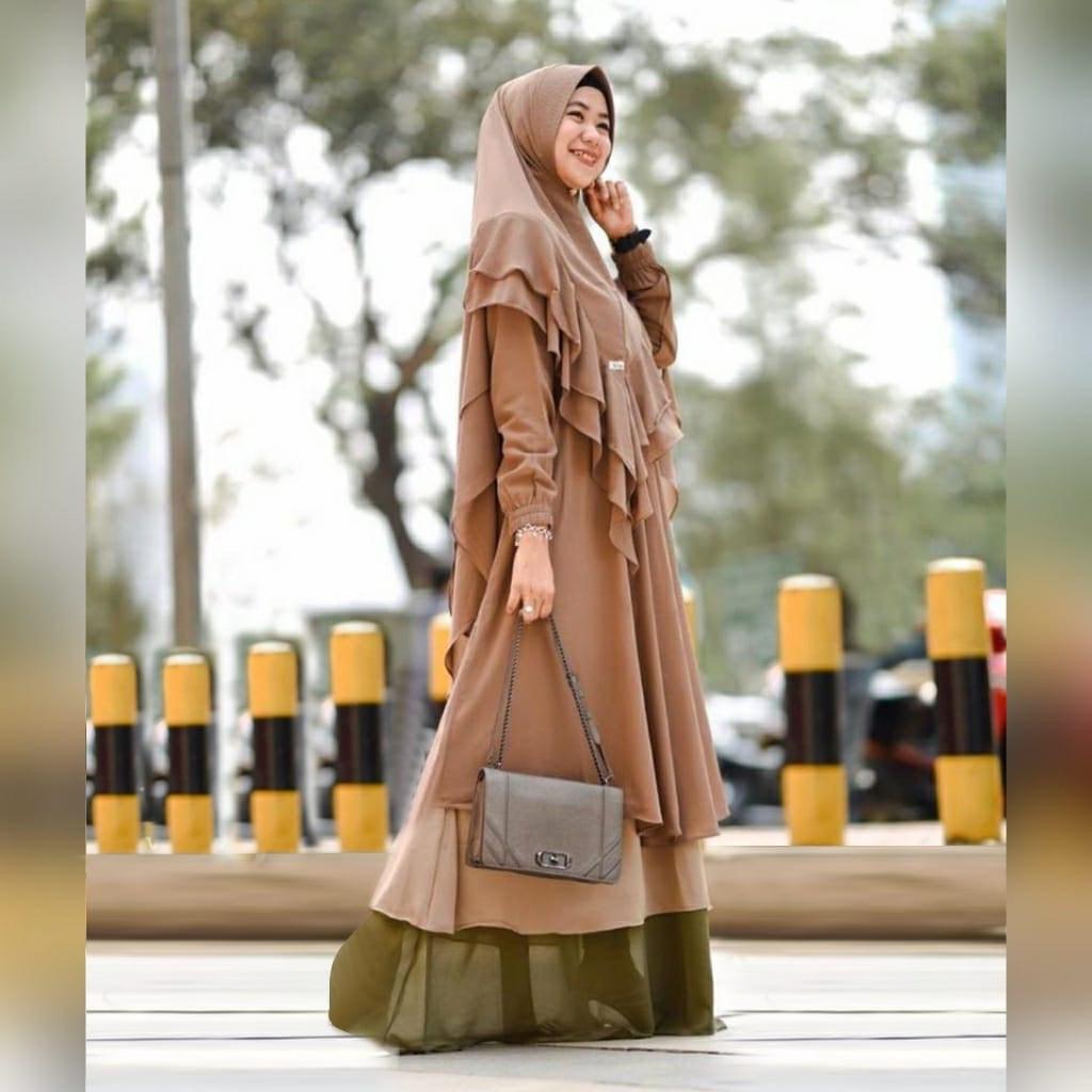 Design Baju Lebaran Terbaru 2020 9fdy Gamis Syari Jumbo Lebaran 2020 Gagil