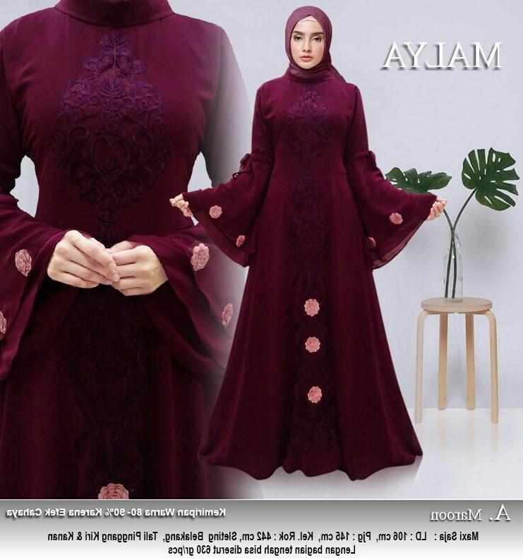 Design Baju Lebaran Terbaru Tanah Abang Tldn 30 Model Baju Gamis Brokat Rompi Fashion Modern Dan