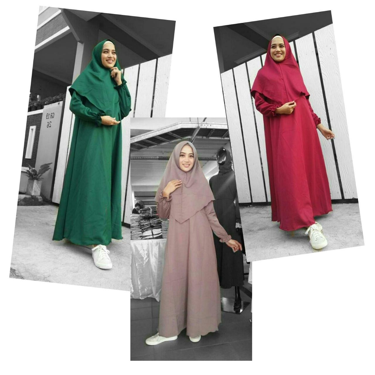 Design Baju Lebaran Terbaru Tanah Abang Xtd6 Jual Baju Gamis Madina Syar'i Flash Crepe Polos Sn1685