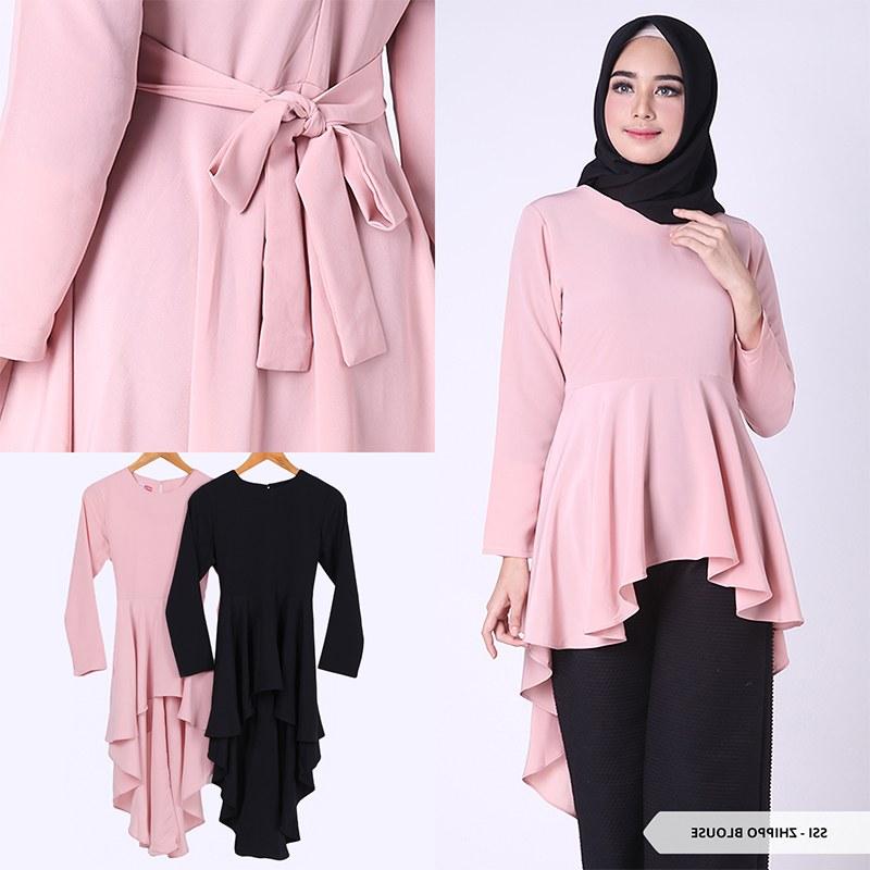 Design Baju Lebaran Tunik Ftd8 Baju Tunik Wanita Model Terbaru Trend Fashion Lebaran