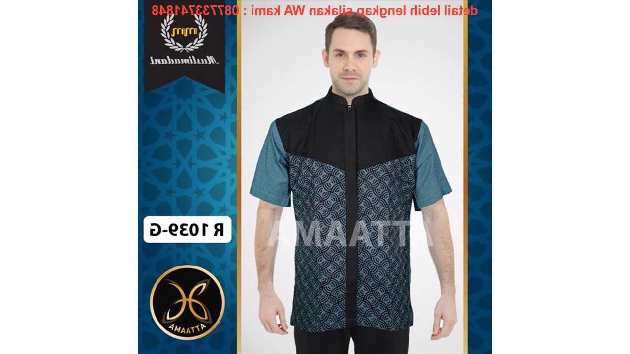 Design Baju Lebaran Untuk Pria 3id6 Baju Pria Kemeja Koko Lebaran Muslim Keren Premium Terkini