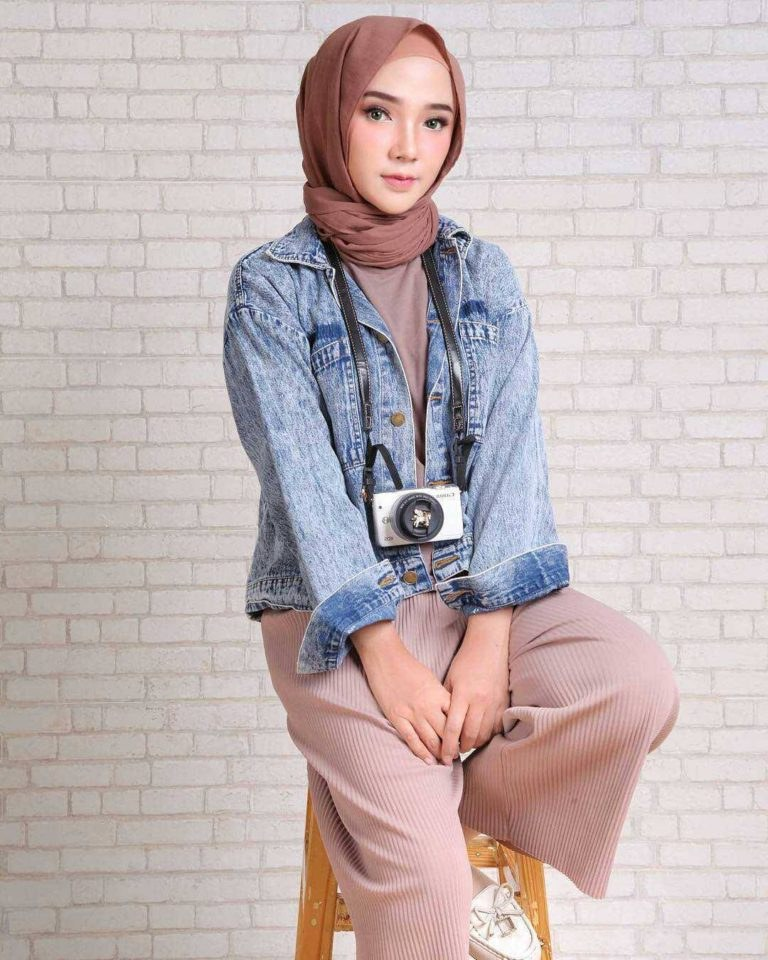 Design Baju Lebaran Wanita 87dx Fashion Hijab Remaja Terbaru 2018 Gaya Masa Kini Teman