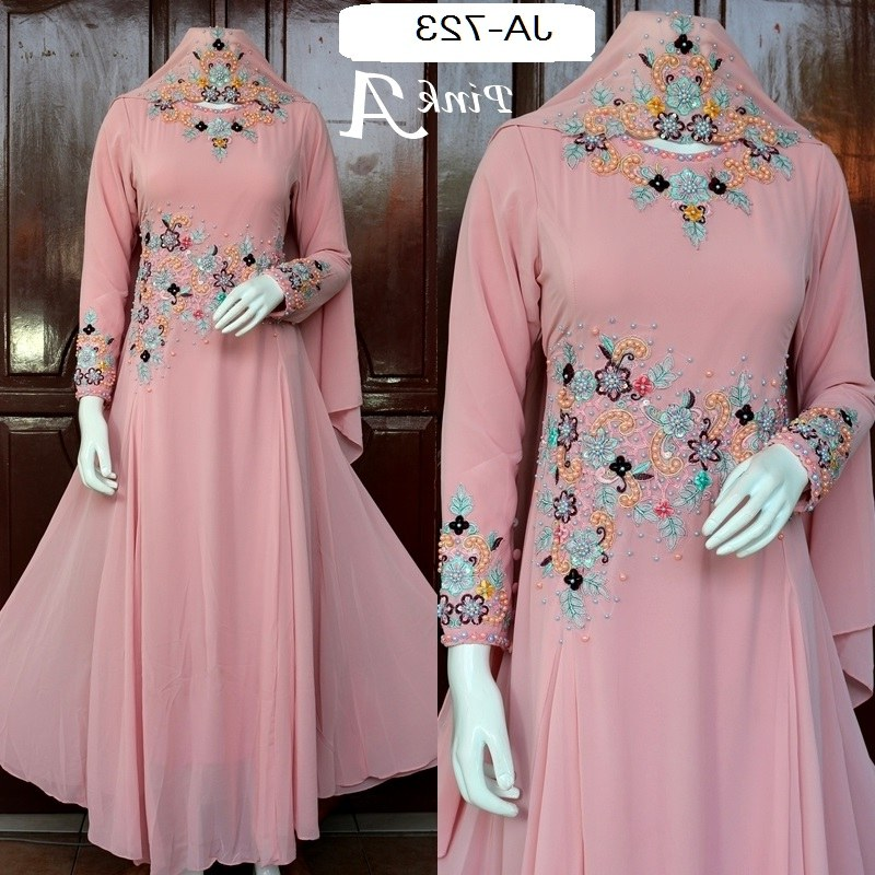 Design Baju Lebaran Wanita Dewasa 87dx Baju Lebaran Dan Pesta Slim Dengan 3 Warna
