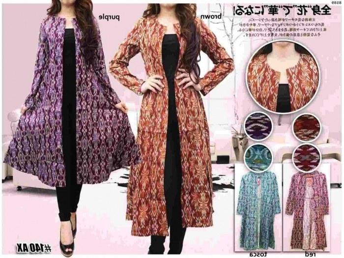 Design Fashion Muslimah Kekinian 3ldq 24 Model Cardigan Batik Panjang Wanita Muslimah