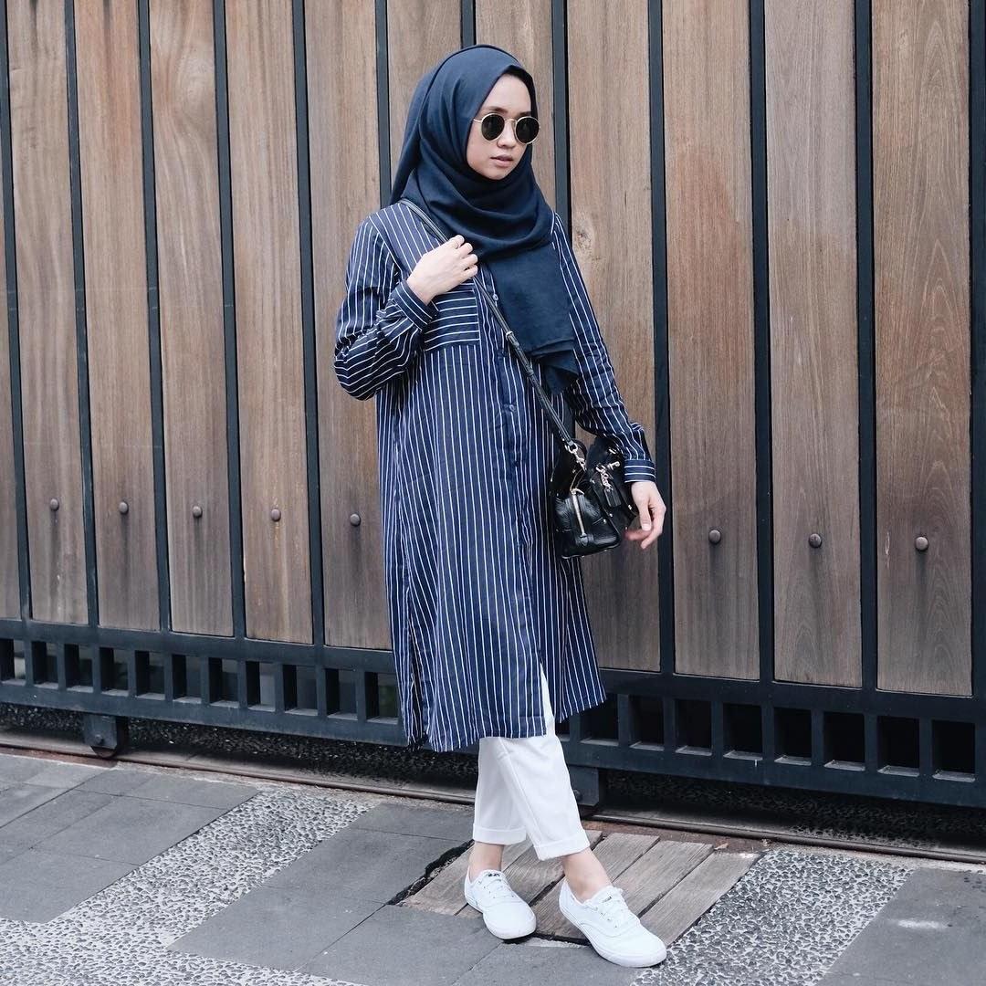 Design Fashion Muslimah Kekinian 4pde Ootd Baju Hijab Kekinian Ala Selebgram 2018 Pashmina Scarf