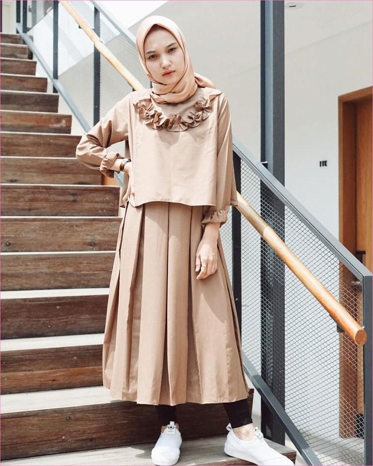 Design Fashion Muslimah Kekinian 9fdy 30 Style Hijab Casual Simple Kekinian Remaja Vintage