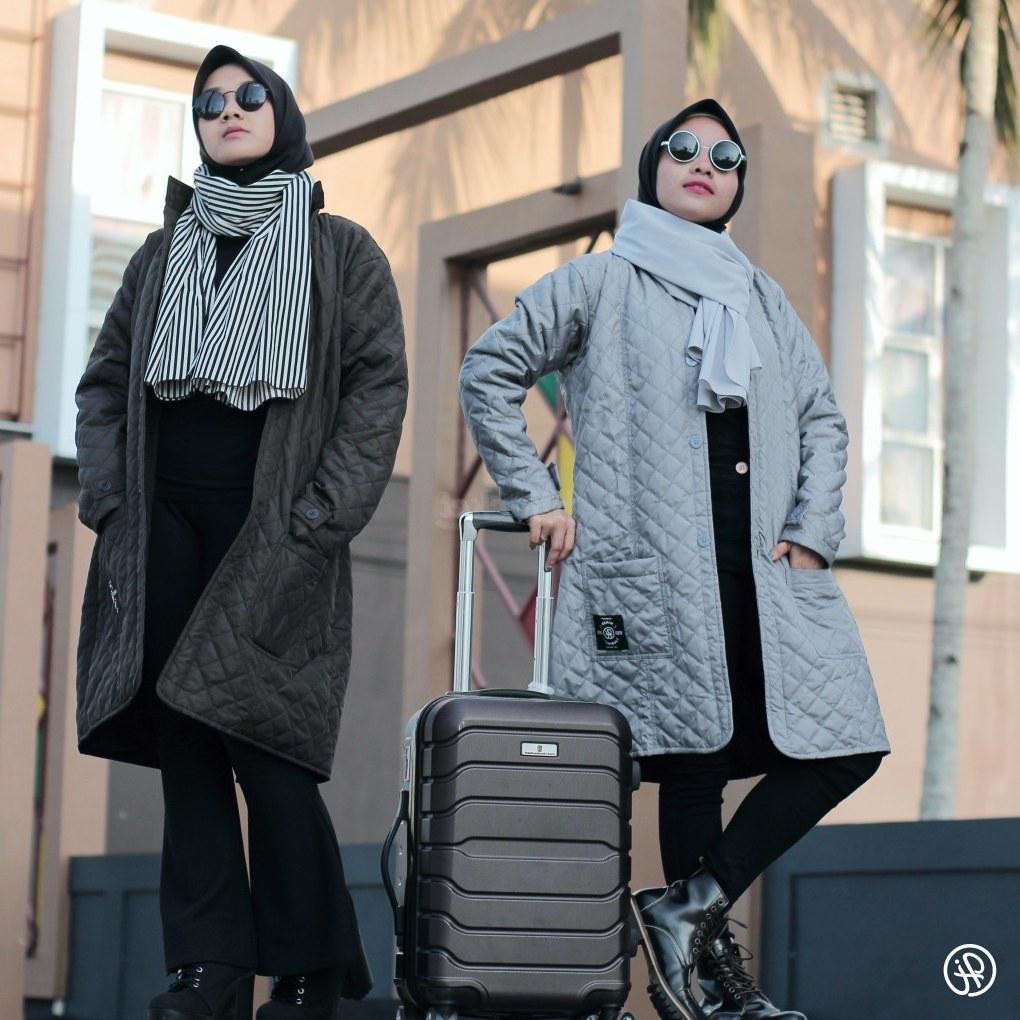 Design Fashion Muslimah Kekinian Wddj Jaket Muslimah Modis Kekinian Hijacket Belva