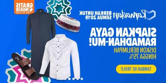 Design Lazada Baju Lebaran Wddj Lazada Promo Fashion Pria Gaya Ramadhan Diskon Hingga