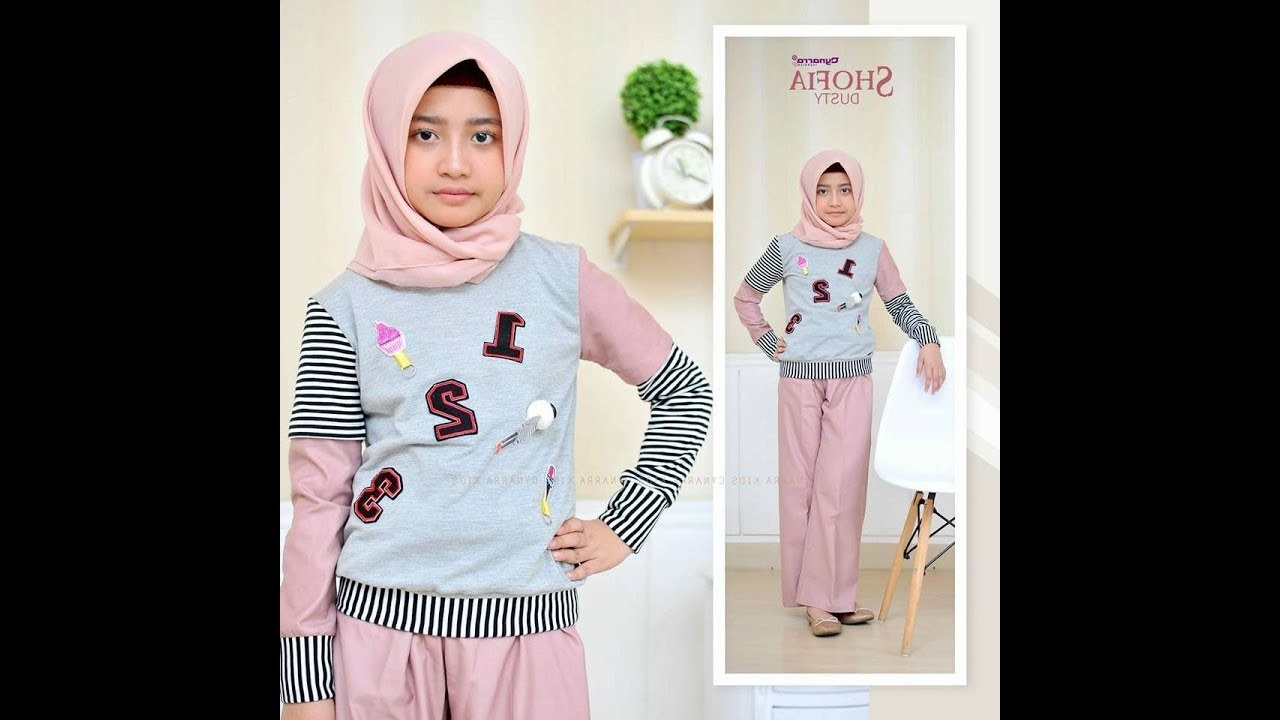 Design Model Baju Lebaran 2018 Anak Perempuan Bqdd Baju Muslim Anak Perempuan Terbaru 2019