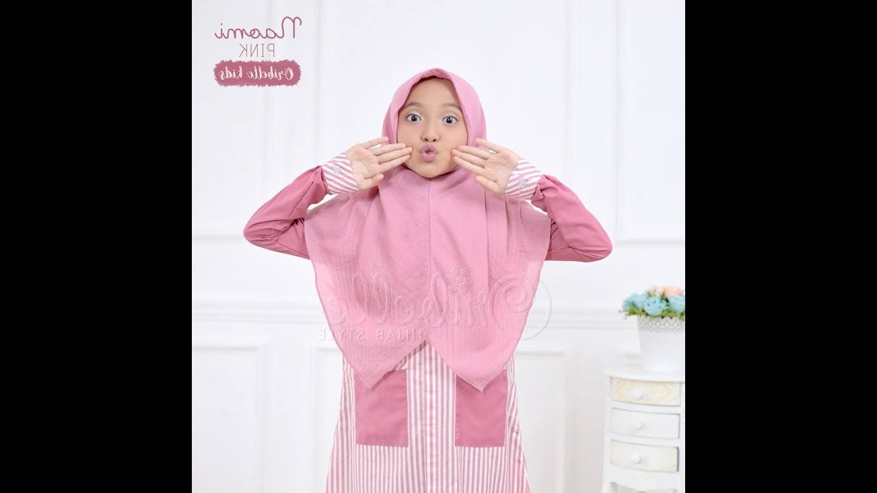 Design Model Baju Lebaran 2018 Anak Perempuan E6d5 Baju Muslim Anak Perempuan Model