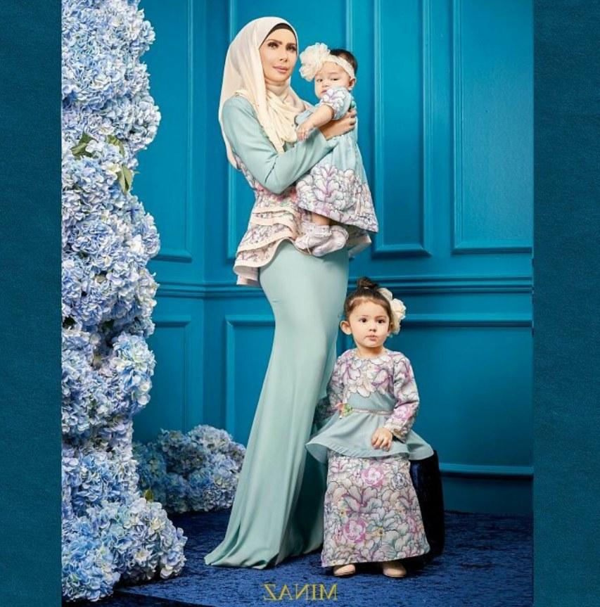 Design Model Baju Lebaran Anak 2019 S1du Baju Ibu Anak Minaz 2017